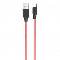 USB-кабель Hoco Silicone X21 Plus Fluorescent 1m (Type-C) (Красный)