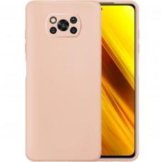 Силикон Original Case Xiaomi Poco X3 (Пудровый)