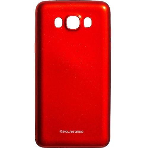 Силиконовый чехол Molan Shining Samsung Galaxy J7 (2016) J710 (Красный)