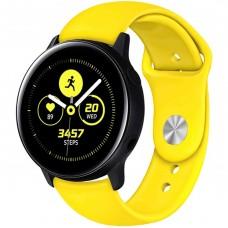 Ремешок Silicone Band Samsung Gear S2 / S3 20mm (Yellow) Gadgik