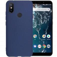Силикон iNavi Color Xiaomi Mi6x / A2 (Темно-синий)