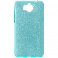 Силикон Glitter Huawei Y5 (2017) (синий)