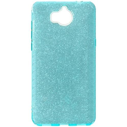 Силиконовый чехол Glitter Huawei Y5 (2017) (синий)