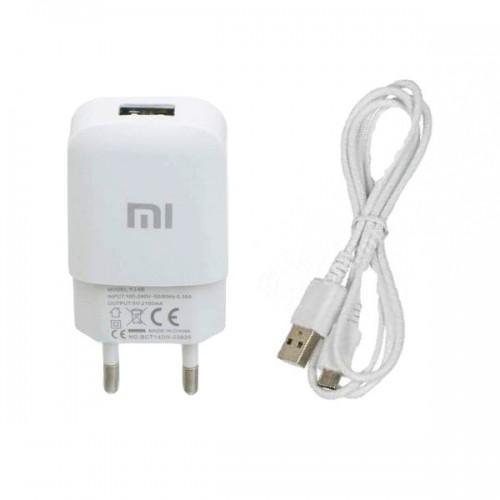 СЗУ-адаптер Xiaomi YJ-06 2A + MicroUSB-кабель (Белый)