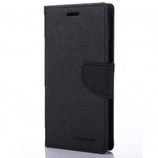 Чехол-книжка Goospery Canvas Diary Xiaomi Redmi 4 (Чёрный)