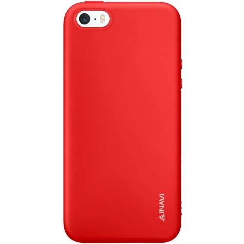 Силикон iNavi Color Apple iPhone 5 / 5s / SE (красный)
