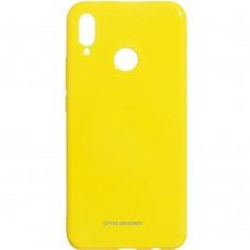 Силиконовый чехол Molan Shining Huawei P Smart Plus (Жёлтый)