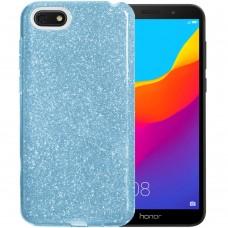 Силикон Glitter Huawei Y5 Prime (2018) / Honor 7A (синий)