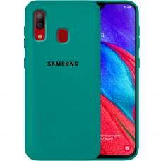 Силикон Original Case Samsung Galaxy A40 (2019) (Тёмно-зелёный)