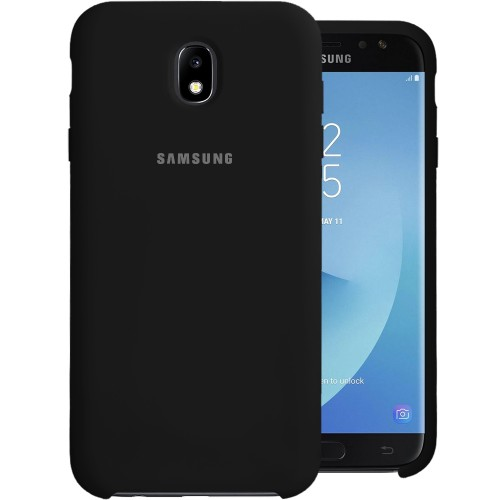 Силикон Original 360 Case Logo Samsung Galaxy J7 (2017) J730 (Чёрный)