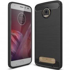 Силикон Polished Carbon Motorola Z2 Play (Чёрный)