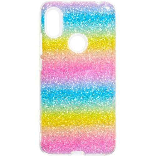 Силиконовый чехол Glitter Xiaomi Redmi S2 (Радуга)