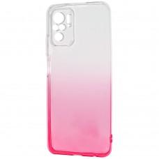 Силикон Gradient Design Xiaomi Redmi Note 10 / Note 10S (Бело-розовый)