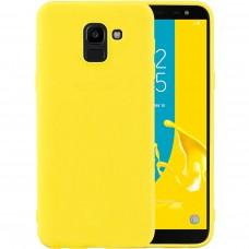 Силиконовый чехол iNavi Color Samsung Galaxy J6 (2018) J600 (желтый)