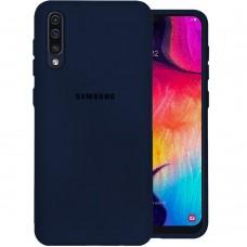 Силикон Original Case Samsung Galaxy A30s / A50 / A50s (2019) (Тёмно-синий)