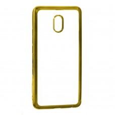 Силиконовый чехол UMKU Line Meizu M6 (Золотой)