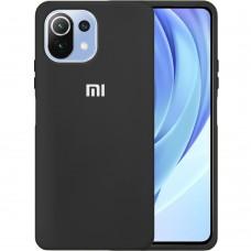 Силикон Original 360 Case Logo Xiaomi Mi 11 Lite (Чёрный)