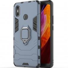 Бронь-чехол Ring Armor Case Xiaomi Mi Max 3 (Пыльная бирюза)