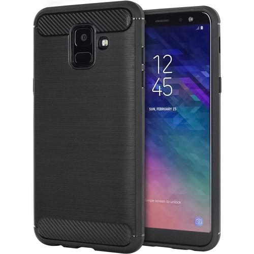 Силикон Polished Carbon Samsung Galaxy A6 (2018) A600 (Чёрный)