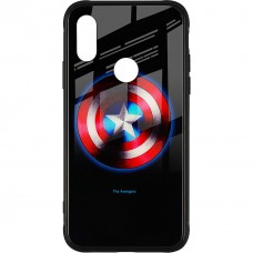 Накладка Luminous Glass Case Xiaomi Redmi 7 (Captain America)