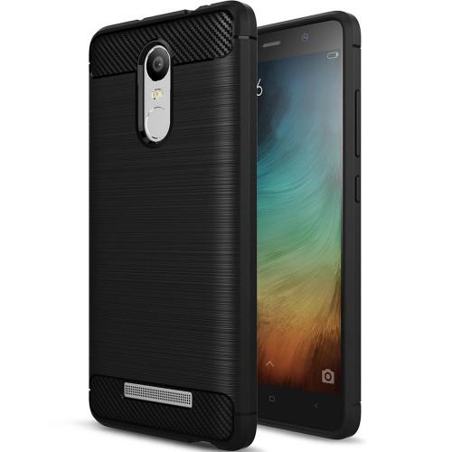 Силикон Polished Carbon Xiaomi Redmi Note 3 / Note 3 Pro (Черный)
