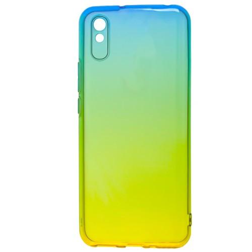 Силикон Gradient Design Xiaomi Redmi 9A (Зелёно-жёлтый)