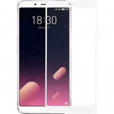 Защитное стекло для Meizu M6s White (Клей)