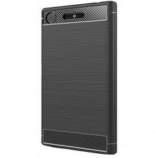 Силиконовый чехол Polished Carbon Sony XA 1 Plus / XA One Plus (чёрный)