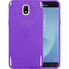 Силикон Glitter Samsung Galaxy J7 (2017) J730 (Фиолетовый)