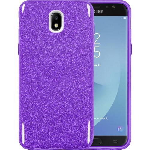 Силиконовый чехол Glitter Samsung Galaxy J7 (2017) J730 (Фиолетовый)