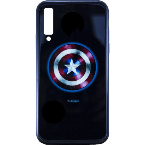 Накладка Luminous Glass Case Samsung A7 (2018) A750 (Captain America)
