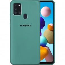 Силикон Original Case Samsung Galaxy A21S (2020) A217 (Тёмно-зелёный)