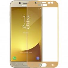 Стекло Samsung Galaxy J5 (2017) J530 Gold