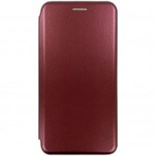 Чехол-книжка Оригинал Samsung Galaxy A12 (2020) (Бордовый)