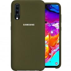 Силикон Original Case Samsung Galaxy A70 (2019) (Оливковый)