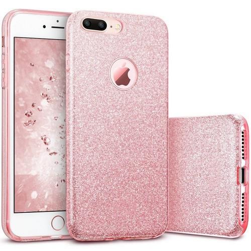 Силиконовый чехол Glitter Apple iPhone 7 Plus / 8 Plus (Розовый)