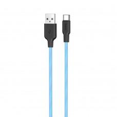 USB-кабель Hoco Silicone X21 Plus Fluorescent 1m (Type-C) (Синий)