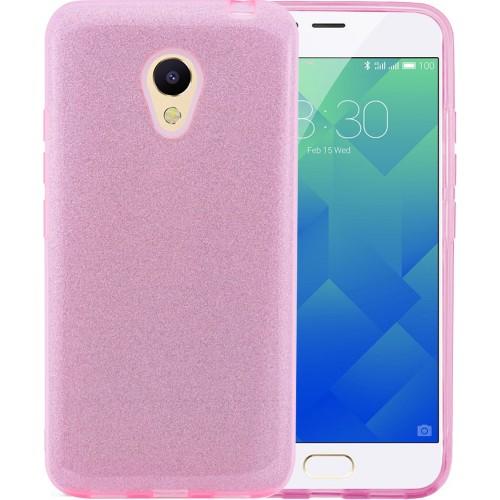 Силиконовый чехол Air Glitter Meizu M6s (Pink)