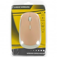 Мышь беспроводная Wireless Mouse JM3500 (Розово-белый)