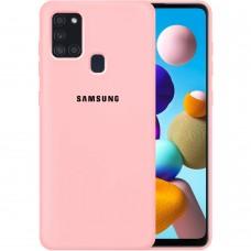 Силикон Original Case Samsung Galaxy A21S (2020) A217 (Розовый)