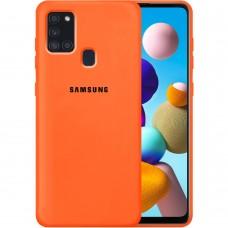 Силикон Original Case Samsung Galaxy A21S (2020) A217 (Оранжевый)