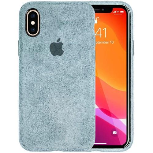 Чехол Alcantara Cover Apple iPhone X / XS (Серый)