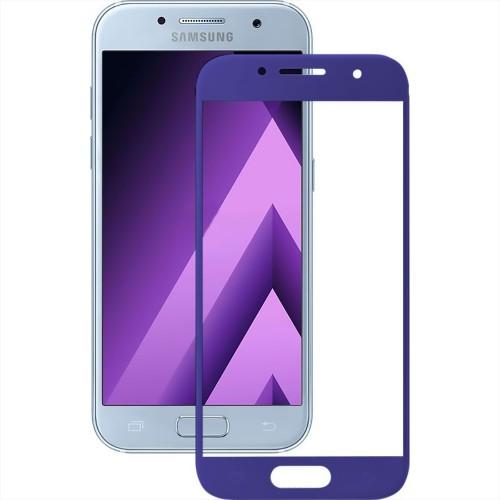 Стекло 3D Samsung Galaxy A7 (2017) A720 Blue