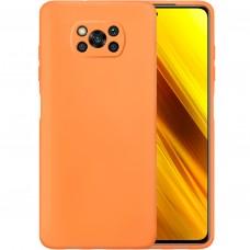 Силикон Original Case Xiaomi Poco X3 (Персиковый)