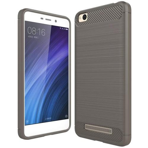 Силиконовый чехол Polished Carbon Xiaomi Redmi 4a (Серый)