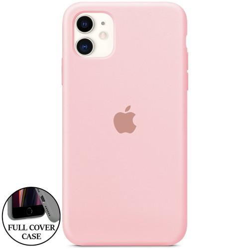 Силикон Original Round Case Apple iPhone 11 (08) Pink Sand