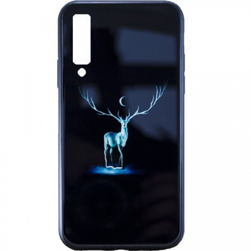Накладка Luminous Glass Case Samsung A7 (2018) A750 (Deer)