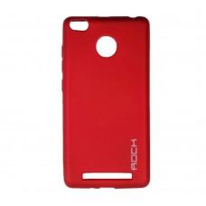 Силиконовый чехол Rock Matte Xiaomi Redmi 3 / 3s / 3x / 3 Pro (Red)