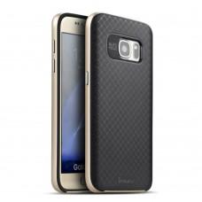 Силиконовый чехол iPaky Carbon Case Samsung S7 Edge (Золотой)