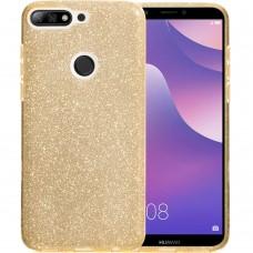 Силикон Glitter Huawei Y7 (2018) / Y7 Prime (2018) / Honor 7C Pro (Золотой)